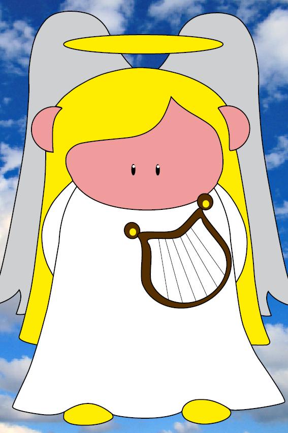 Engel Maria foto wolken