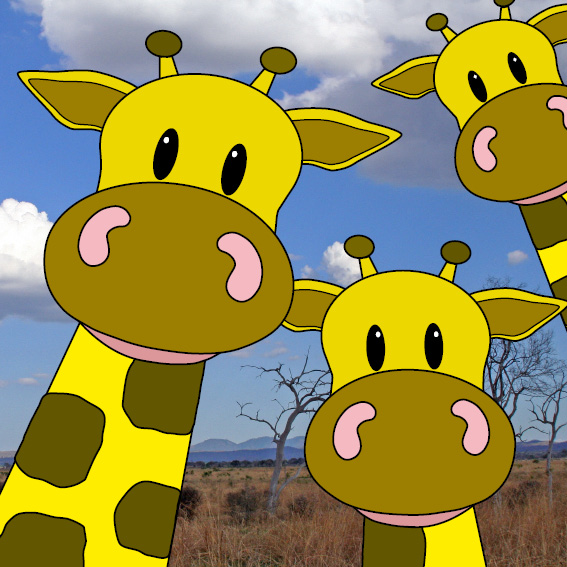 Giraffen foto savanne