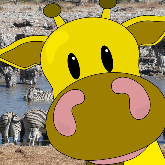 Giraf Menno uitvergroot foto savanne