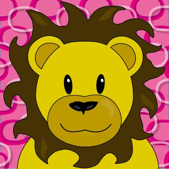 Leeuw Barry roze ringen