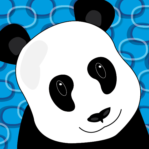 Panda Sam blauwe ringen