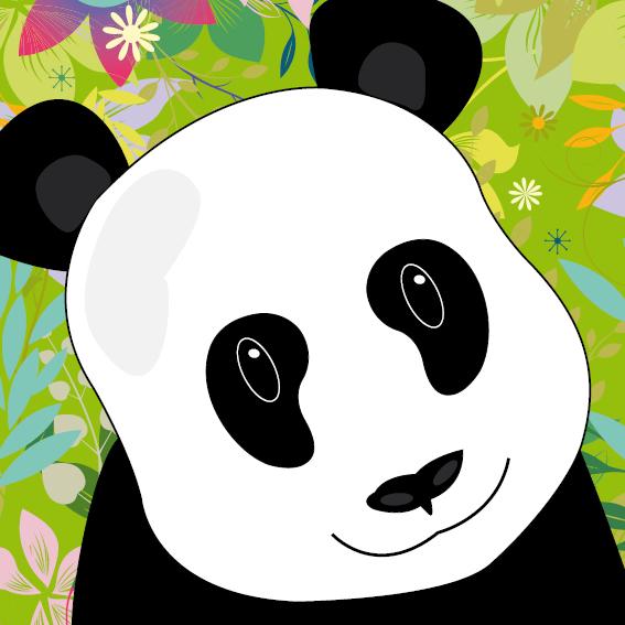 Panda Sam bloemen