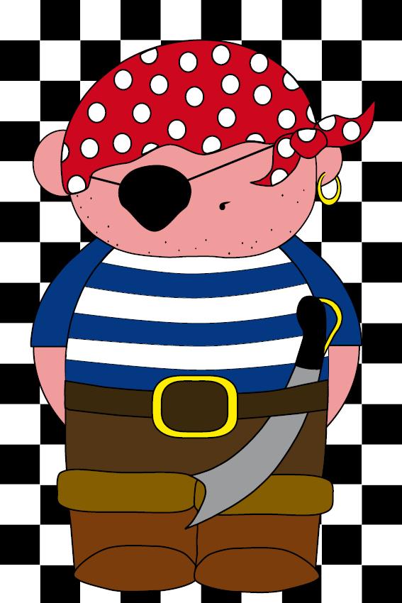 Piraatje Bas zwarte blokken