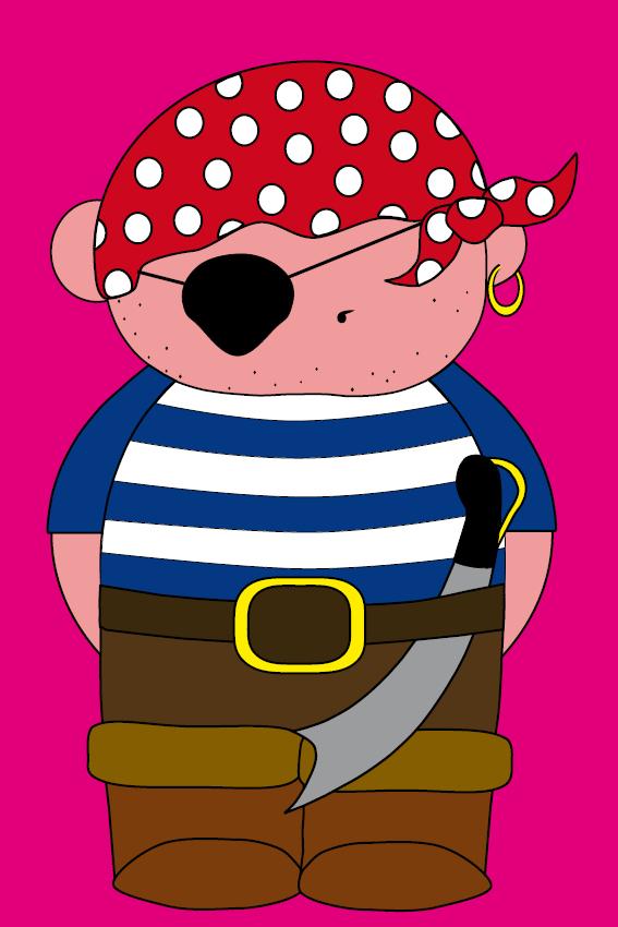 Piraatje Bas roze