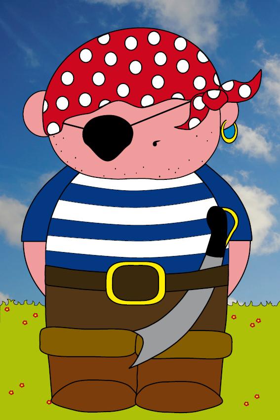 Piraatje Bas foto lucht en gras