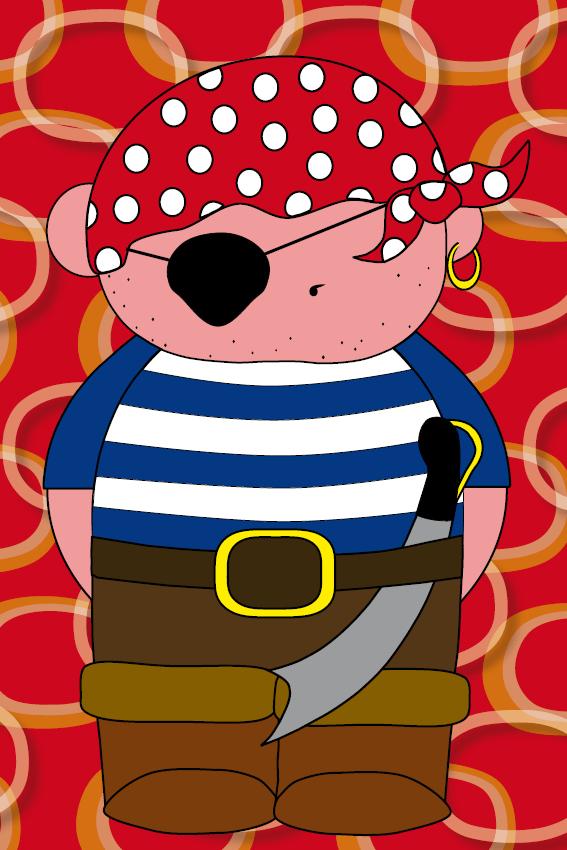 Piraatje Bas rode ringen
