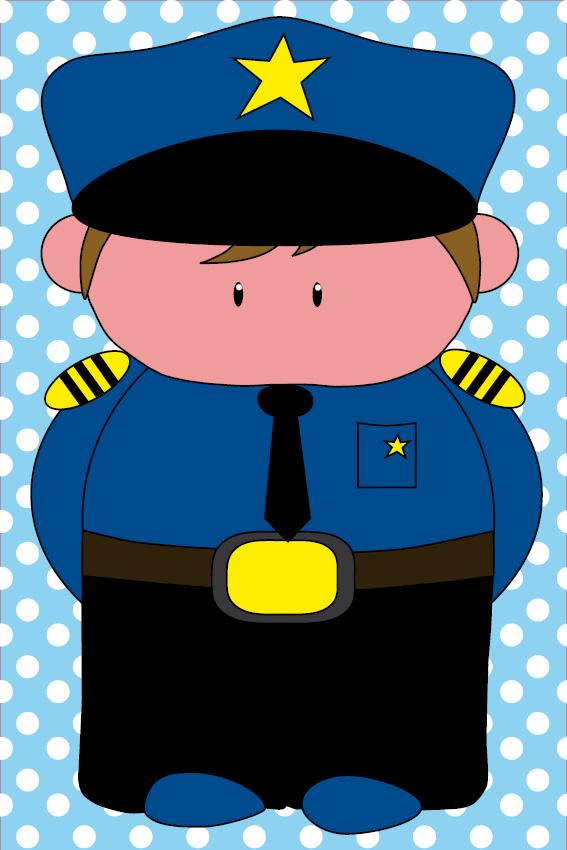Politieagent Henk baby blauwe stippen
