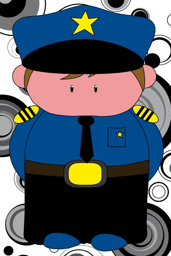 Politieagent Henk cirkels zwart groot