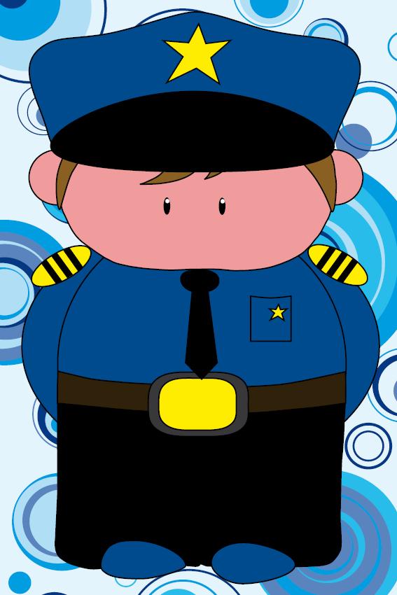 Politieagent Henk cirkels blauw