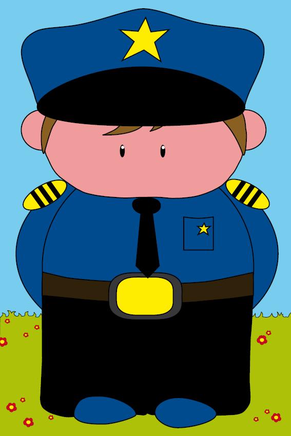 Politieagent Henk gras en lucht