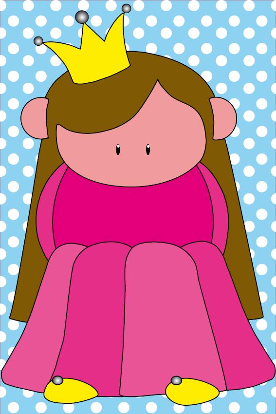 Prinsesje Ariane stip baby blauw