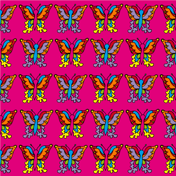 Vlindertjes roze