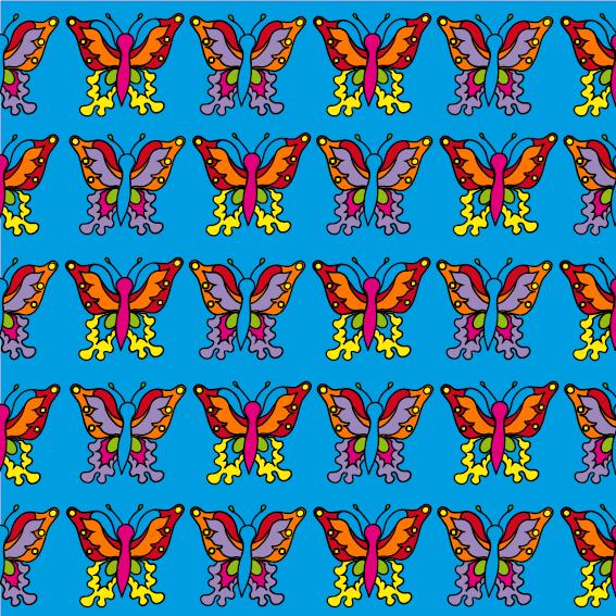 Vlindertjes blauw
