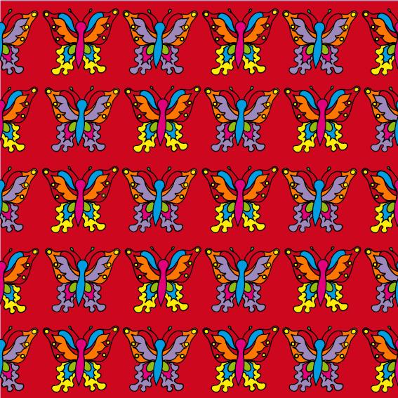 Vlindertjes rood