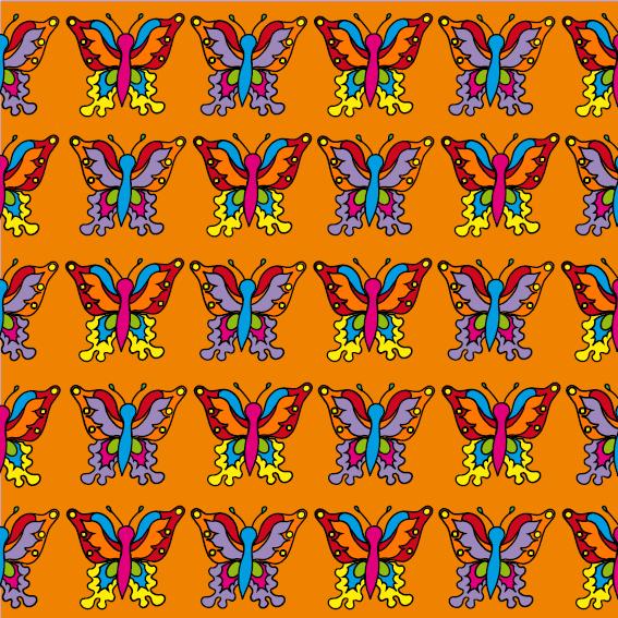 Vlindertjes oranje