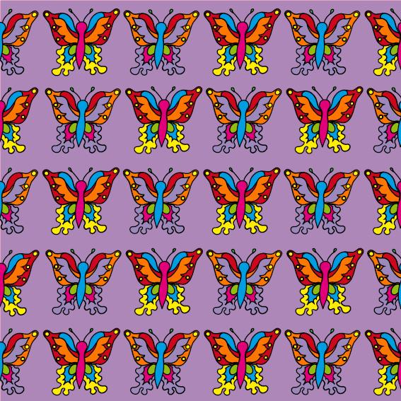 Vlindertjes paars
