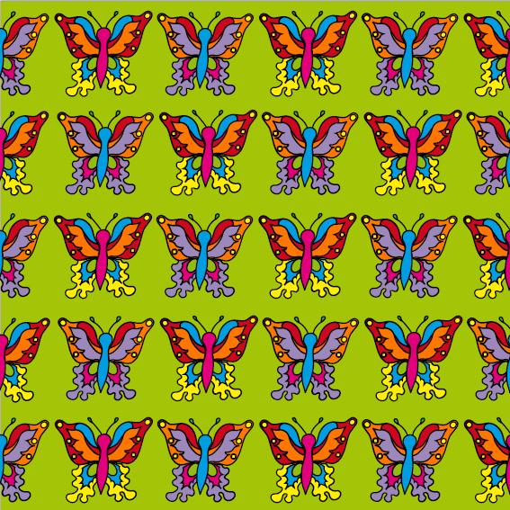 Vlindertjes groen