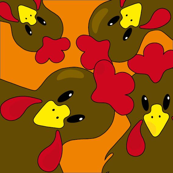 Bruine kippen oranje