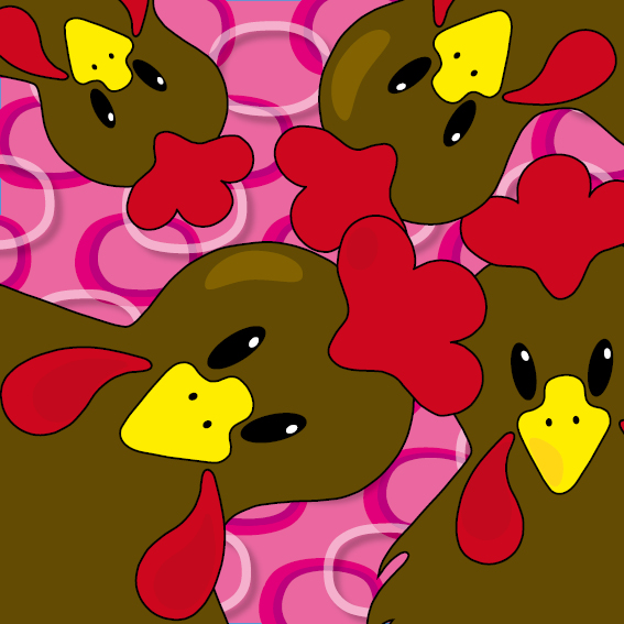 Bruine kippen ringen roze