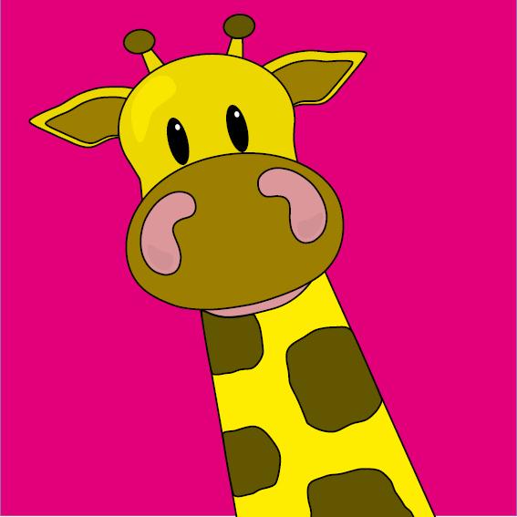 Giraf Menno roze