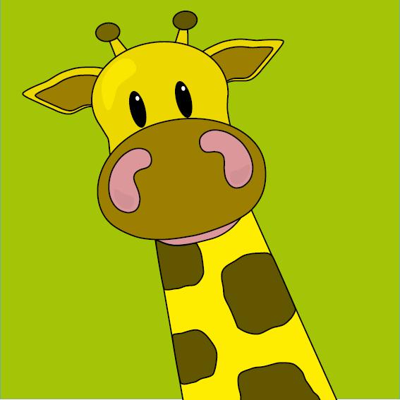 Giraf Menno groen