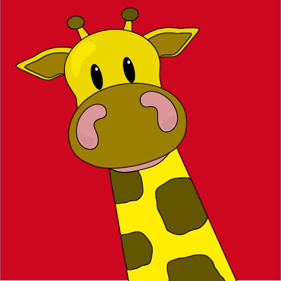 Giraf Menno rood
