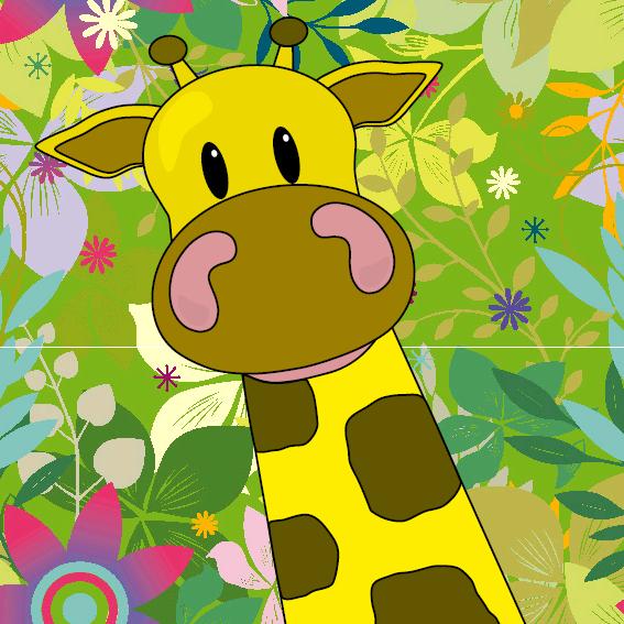 Giraf Menno bloemen