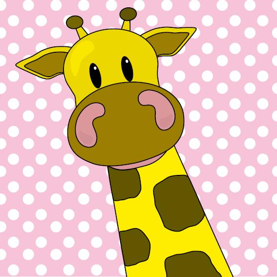 Giraf Menno baby roze stippen
