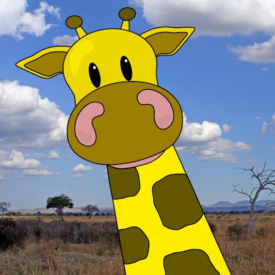 Giraf Menno foto savanne