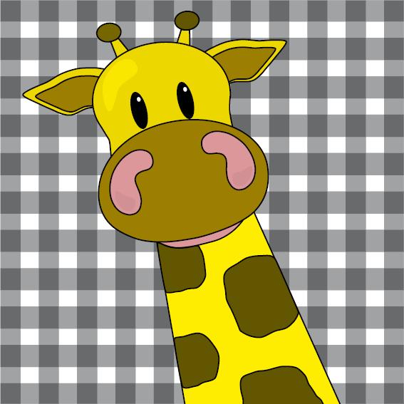 Giraf Menno zwarte ruit