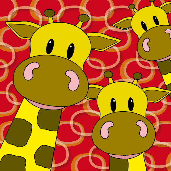 Giraffen rode ringen