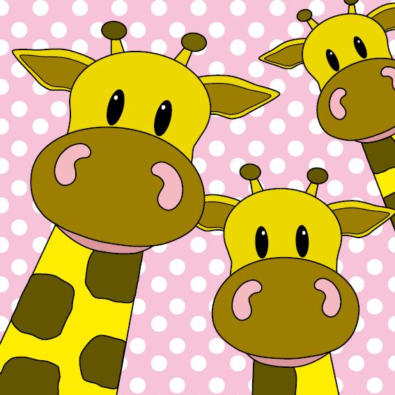 Giraffen roze stippen