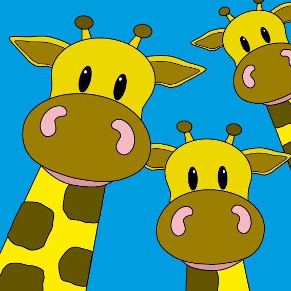 Giraffen blauw