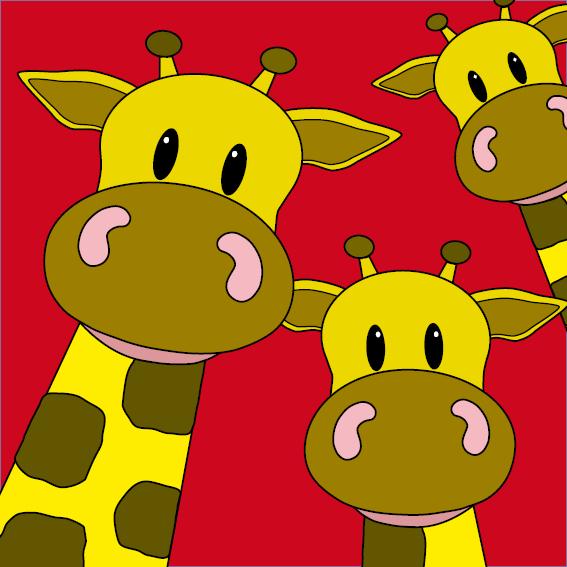 Giraffen rood