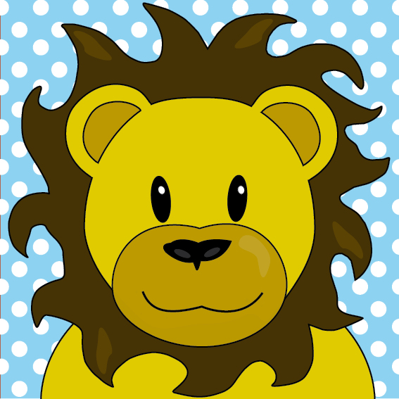 Leeuw Barry blauwe stippen