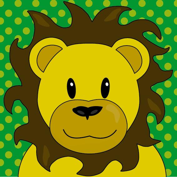 Leeuw Barry groene stippen