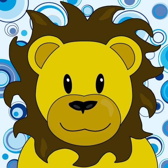 Leeuw Barry blauwe cirkels
