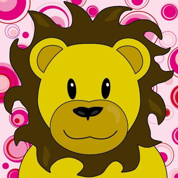 Leeuw Barry roze cirkels