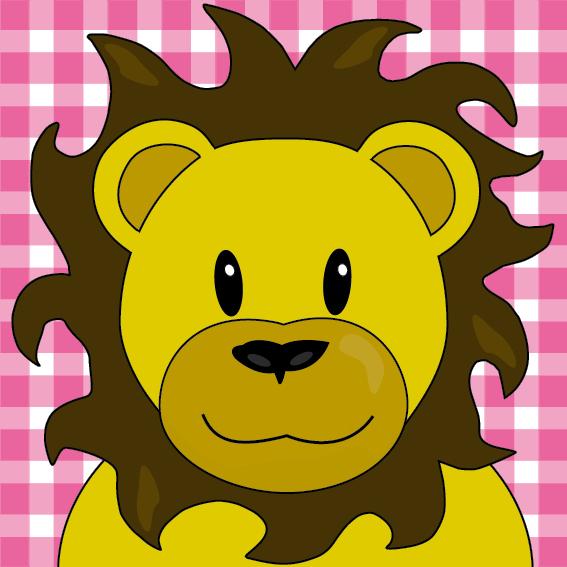 Leeuw Barry roze ruit