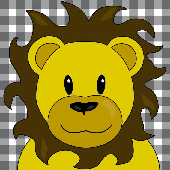 Leeuw Barry zwarte ruit
