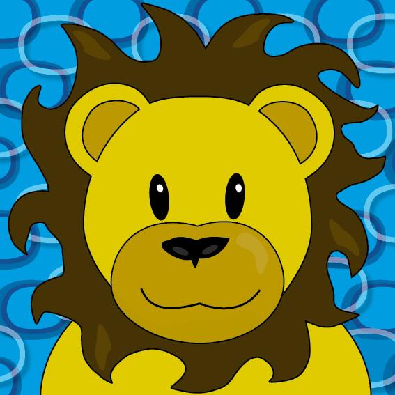 Leeuw Barry blauwe ringen