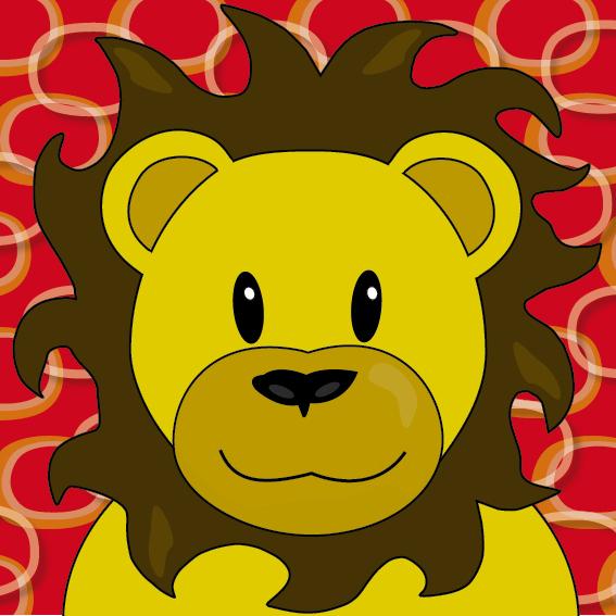Leeuw Barry rode ringen