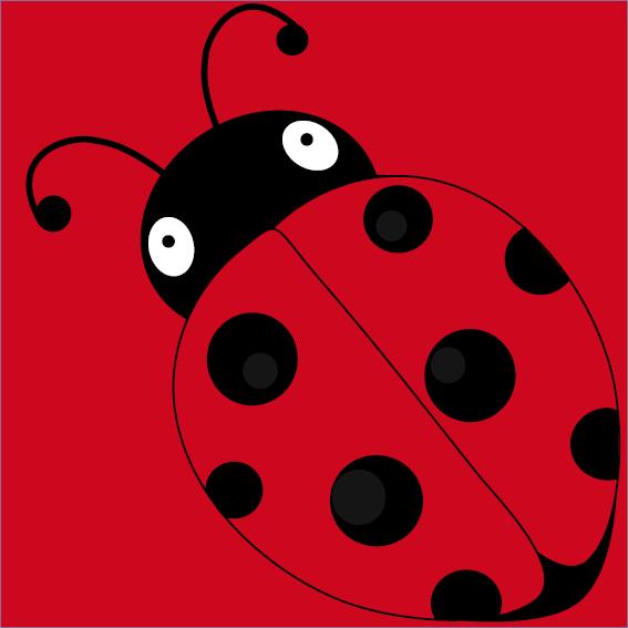 Lieveheersbeestje Sophie rood