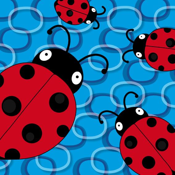 Lieveheersbeestje Sophie 4 keer blauwe ringen