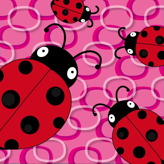 Lieveheersbeestje Sophie 4 keer roze ringen