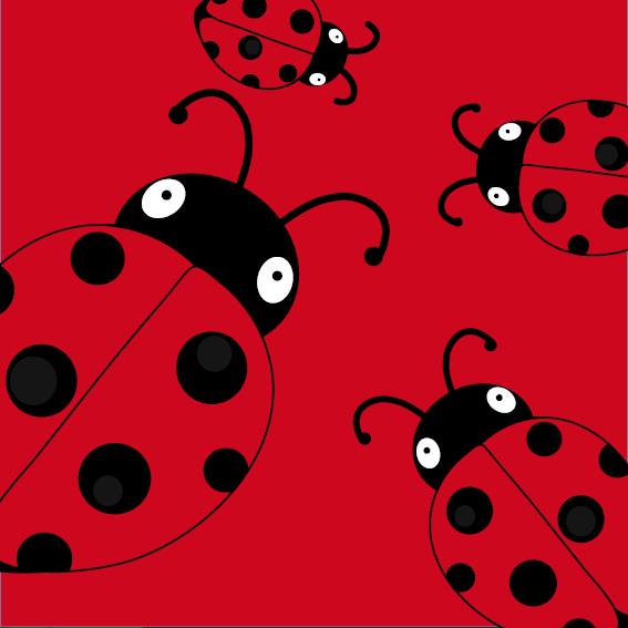 Lieveheersbeestje Sophie 4 keer rood
