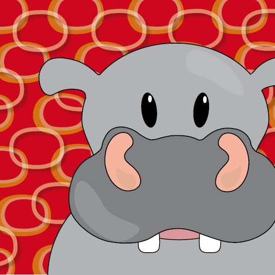 Nijlpaard Benno rode ringen