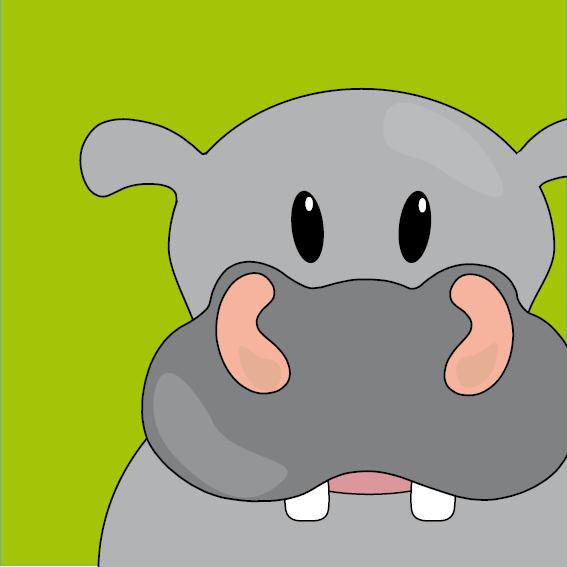 Nijlpaard Benno groen