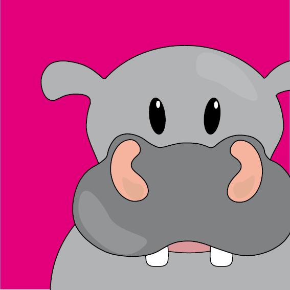 Nijlpaard Benno roze