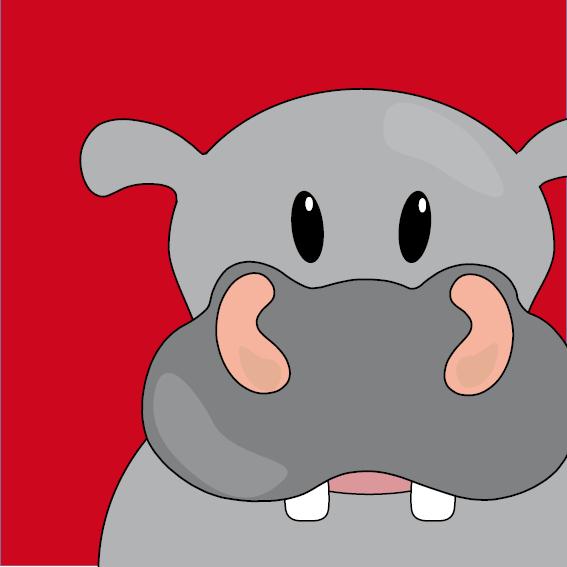 Nijlpaard Benno rood